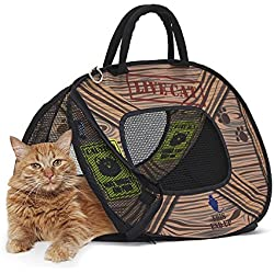 SportPet Designs Cat Carrier With Zipper Lock- Foldable Travel Cat Carrier - Pet Pen