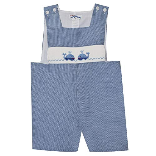 Silly Goose Whale Smocked Sunsuit