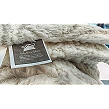 Tache Home Fashion DaDa Super Soft 63 X 87 Luxury Chinchilla Ivory Faux Fur Throw Blanket