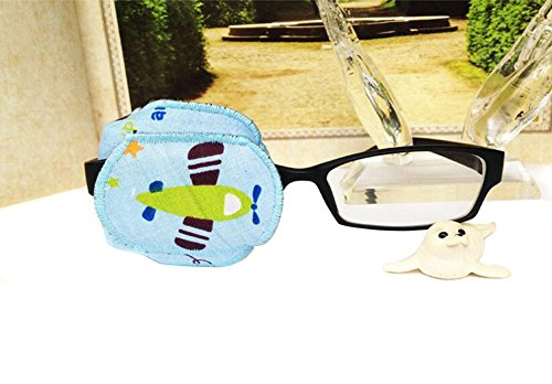 Pure Cotton Reusable Eye Patch Cartoon Amblyopia Eye Patches For Glasses Treat Lazy Eye and Strabismus For Kids Children,Vision Care Eye Mask (Right Eye)