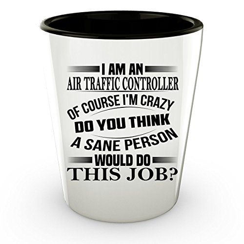 Traffic Camera Costume (Air Traffic Controller Shot Glass - Air Traffic Controller Gifts - Unique Coffee Shot Glass, Coffee Cup #02)
