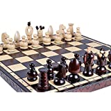 ChessCentral The Volkh - Unique Wood Chess Set with Chess Board and Storage (Carpathian Chess Set Collection)