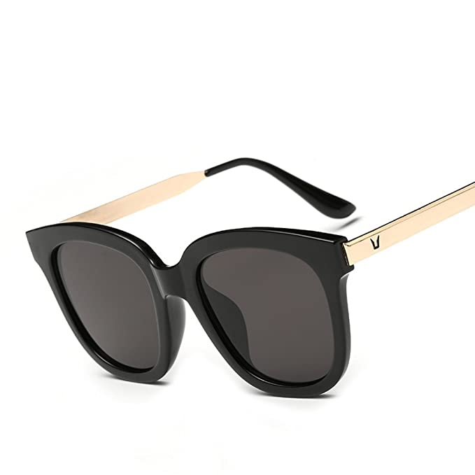 WKAIJC Sonnenbrillen Weibliche Modelle Farbfilm Mode Persönlichkeit Komfort Kreativität Sonnenbrille Anti-Ultraviolett,B