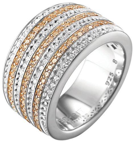 Esprit Collection - ELRG91537C160 - Bague Femme - Argent 925/1000 14.9 Gr - Oxyde de Zirconium