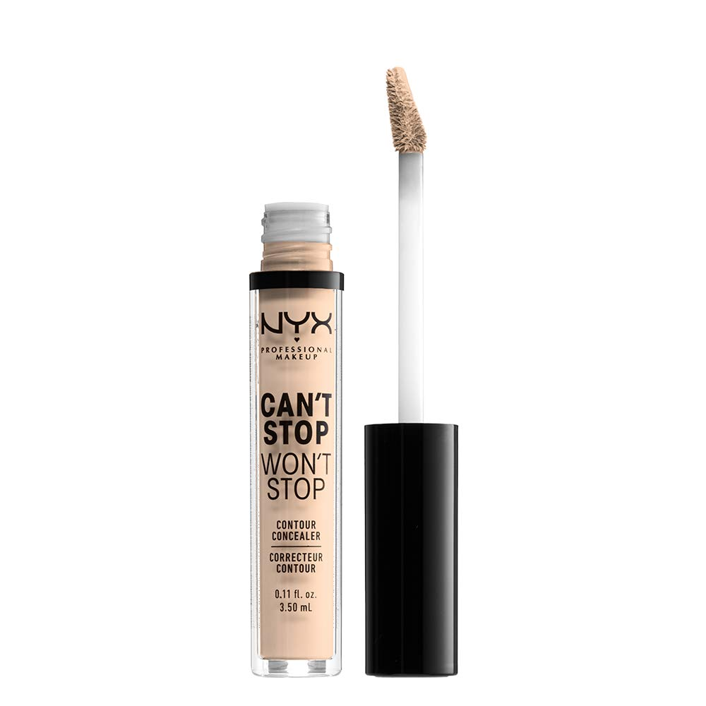 NYX PROFESSIONAL MAKEUP Can't Stop Won't Stop Contour Concealer, Light Ivory, 0.11 Ounce