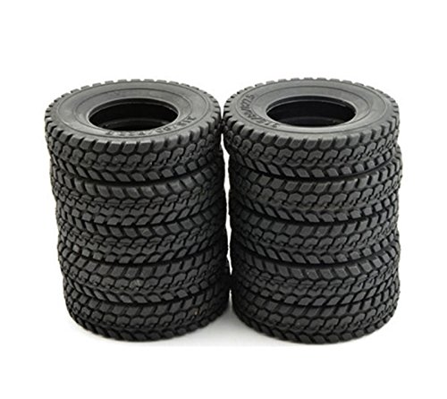 10x 1/14 Billet Truck Rear& Front Tires Set (10) for Tamiya 1/14 Tractor Truck (Rc Tractor Tires)