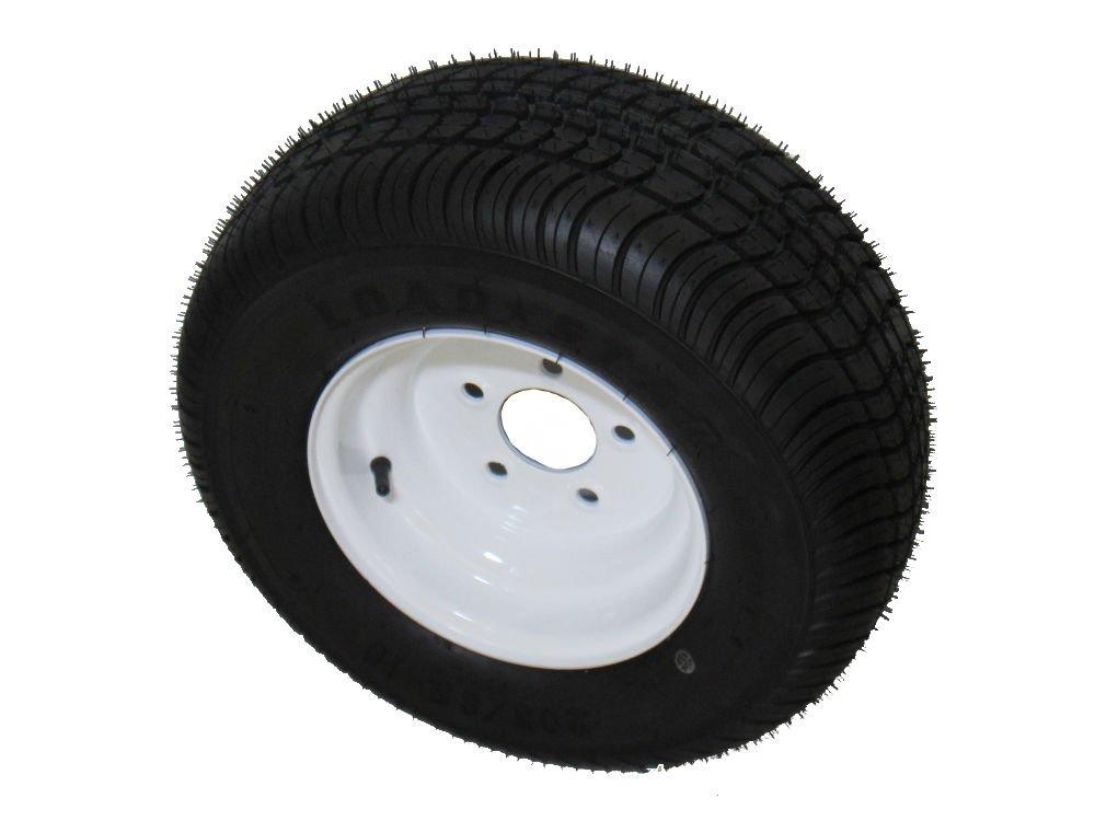 Kenda Loadstar 205/65-10 LRC 6 PR Bias Trailer Tire on 10'' 5 Lug White Steel Trailer Wheel