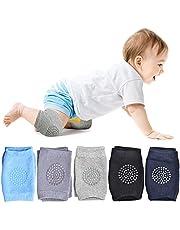 WainbowA Rodilleras antideslizantes para bebés y niños pequeños, rodilleras, codos y piernas, unisex, para aprender a calcetines, 5 pares