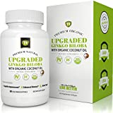 UPGRADED Ginkgo Biloba Extract W/ Organic Coconut Oil For Highest Absorption - 120mg Vegetarian Soft Gels - 60 Capsules by TR Supplements