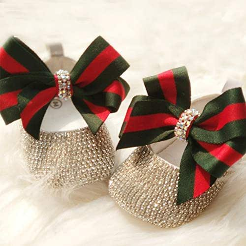 Classical Stripe Bow Glitter Baby