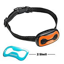 FONPOO FP-681S Dog No Bark Collar for Bark Control with Harmless Warning Sound and SHOCK 7 Levels of Adjustable Sensitivity Control Electric Anti Bark Collar for 15-120 lb Dogs Large and Medium Dogs