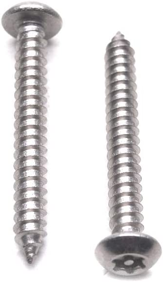 HONJIE #10 x 1-1//2 Button Head Torx Security Sheet Metal Screws Stainless Steel Tamper Resistant-25pcs