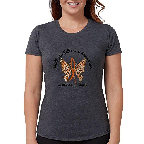 CafePress - MS Butterfly 6.1 T-Shirt - Womens Tri-Blend T-Shirt ()