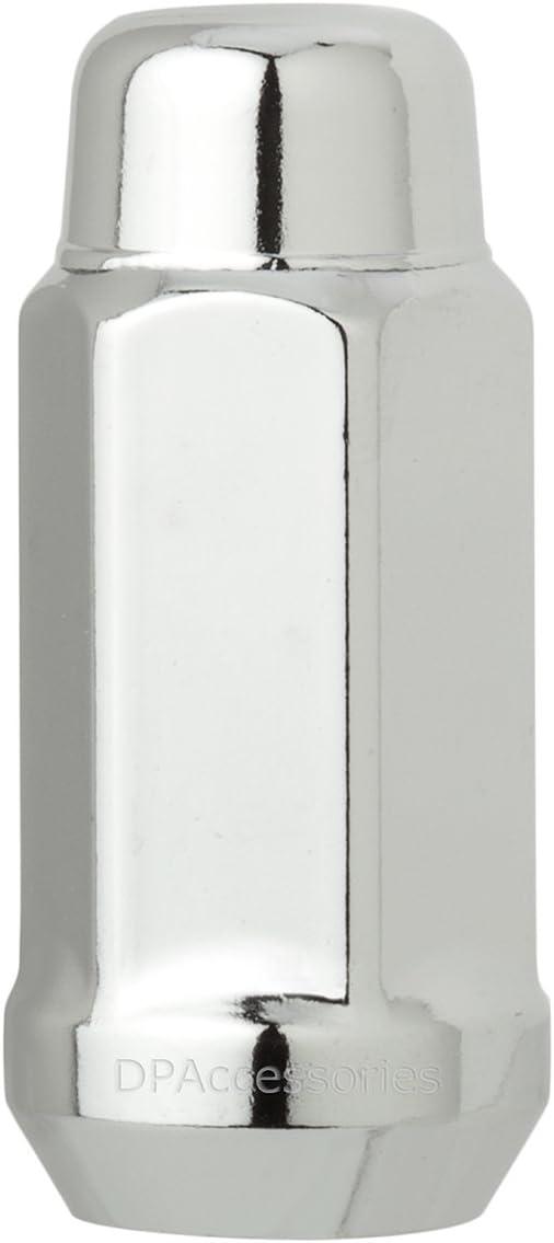 DPAccessories D3618-2305//24 24 Chrome 14x1.5 Closed End XL Bulge Acorn Lug Nuts 22mm Hex Wheel Lug Nut Cone Seat