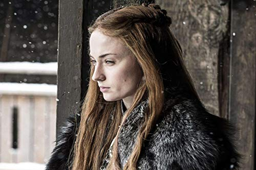 Divine Posters Sophie Turner Actress Sansa Stark 12 x 18 Inch Multicolour Famous Quoted ()