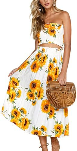 Angashion Womens Floral Skirt Outfit product image