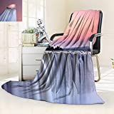 vanfan Warm Microfiber All Season Blanket Decor Collection Grand Majestic Waterfalls View at Sunset in Africa Wild Mist Exotic,Silky Soft,Anti-Static,2 Ply Thick Blanket. (60''x36'')