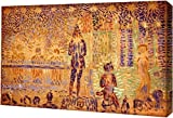 "This 13"" x 19"" premium gallery wrapped canvas print of Study for 'Invitation to the Sideshow' by Georges Seurat is meticulously created on artist grade canvas utilizing ultra-precision print technology and fade-resistant archival inks. This magnifice..."