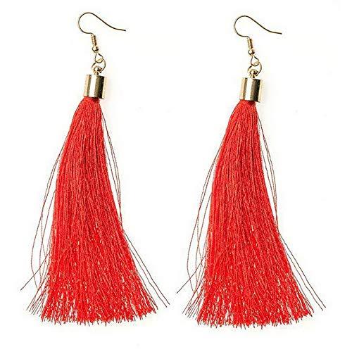 Dokis Elegant Women Bohemian Long Tassel Fringe Drop Dangle Ear Stud Earrings Jewelry | Model ERRNGS - 15945 |
