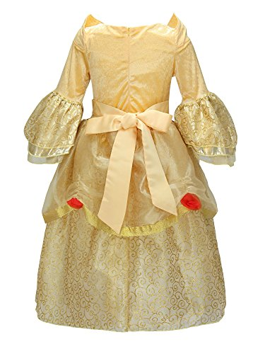 Loel Girls Belle Costume Princess Dress up