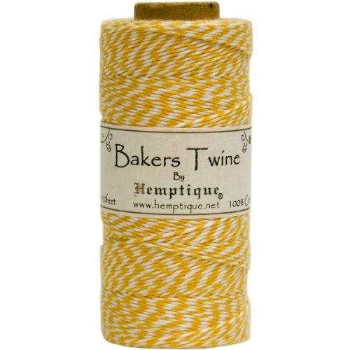 (Hemptique BTS2YEL-W Baker's Twine Spool, Yellow and White)