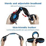 Beexcellent Gaming Headset GM-1 with Microphone for New Xbox 1 PS4 PC Cellphone Laptops Computer - Surround Sound, Noise Reduction Game Earphone-Easy Volume Control with LED Lighting 3.5MM