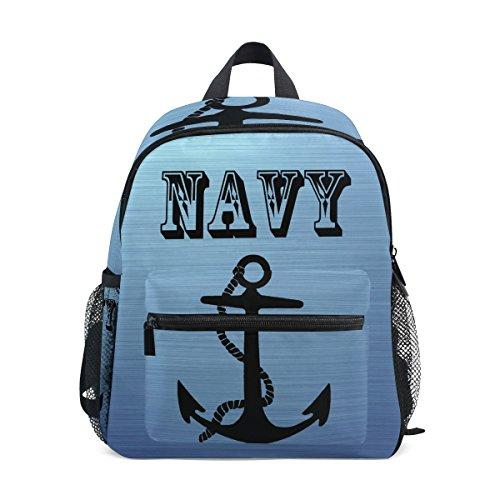 US Navy Age 3-8 Kids Mini School Backpack Unisex ()