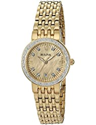 Bulova Womens Quartz and Stainless-Steel Casual Watch, Color:Gold-Toned (Model: 98R212)