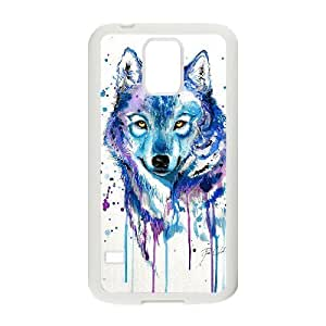 Custom Colorful Case for SamSung Galaxy S5 I9600, Rainbow Wolf Cover Case - HL-R670931