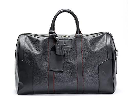 Men's Black Carry On Travel Duffel - Cow Leather by Good Vibe