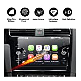 2018 Volkswagen VW Golf 7 Golf SportWagen Touch Screen Protector, R RUIYA HD Clear TEMPERED GLASS Protective Film Against Scratch High Clarity (8-Inch)