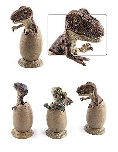 Little Story  Egg, 3pcs Novelty Magic Crack Easter Dinosaur Hatching Eggs Toy -