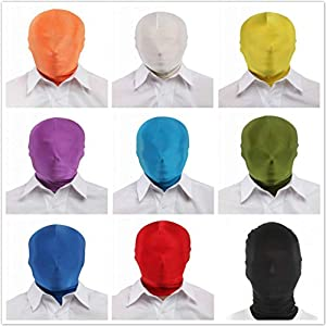 Lycra Spandex Zentai Costume Skin Masks Halloween Party Chroma-Mask Full Hood