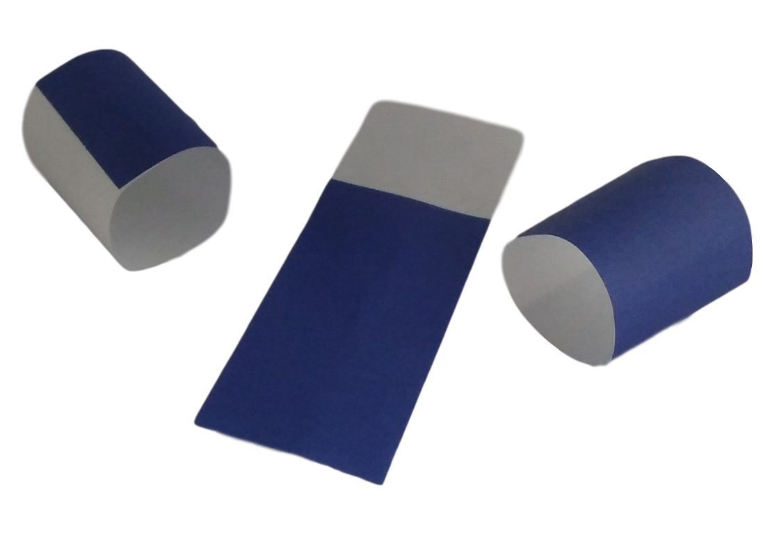 Self-Adhering Bond Paper Napkin Band 1.5 inches x 4.25 inches by MT Products - Pack of 750 Pieces (Blue)