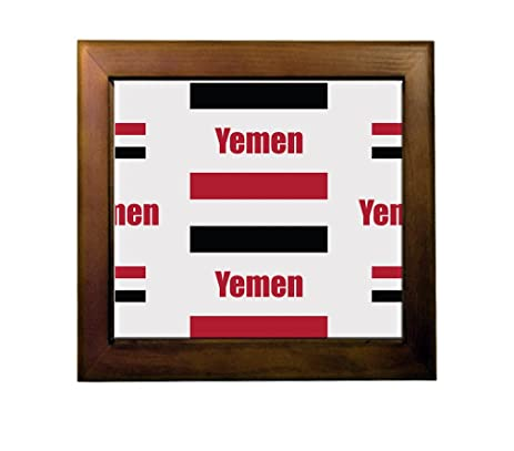 Yemen Country Flag Ceramic Tile Backsplash Accent Mural - - Amazon.com