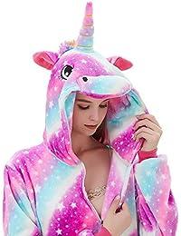 926cd9b9de2a Fleece Onesie Pajamas for Women Adult Cartoon Animal Unicorn Christmas  Halloween Cosplay Onepiece Costume