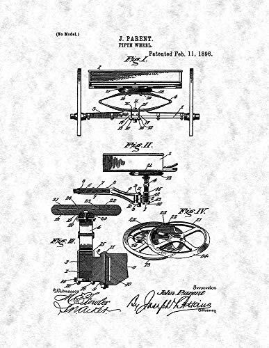 Fifth Wheel Patent Print Gunmetal (13