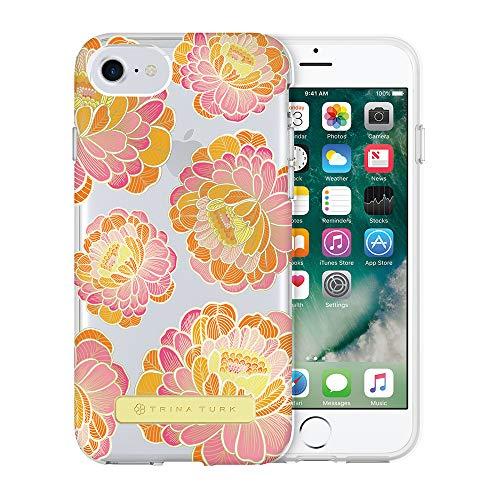 ❥ Trina Turk Translucent Case (1-PC) for iPhone 8, iPhone 7 & iPhone 6/6s - Villa Floral Pink/Orange/Clear orange iphone 8 case 21