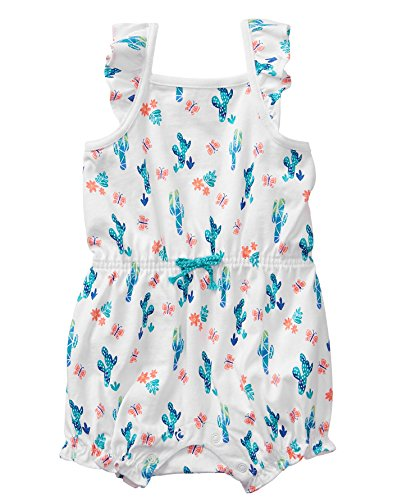 - Gymboree Baby Girls 1-Piece Sleveless Bodysuit, Turquoise Cactus, 0-3 mo