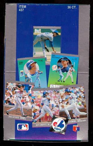 1991 Fleer Ultra Baseball Wax Pack Box Card Set