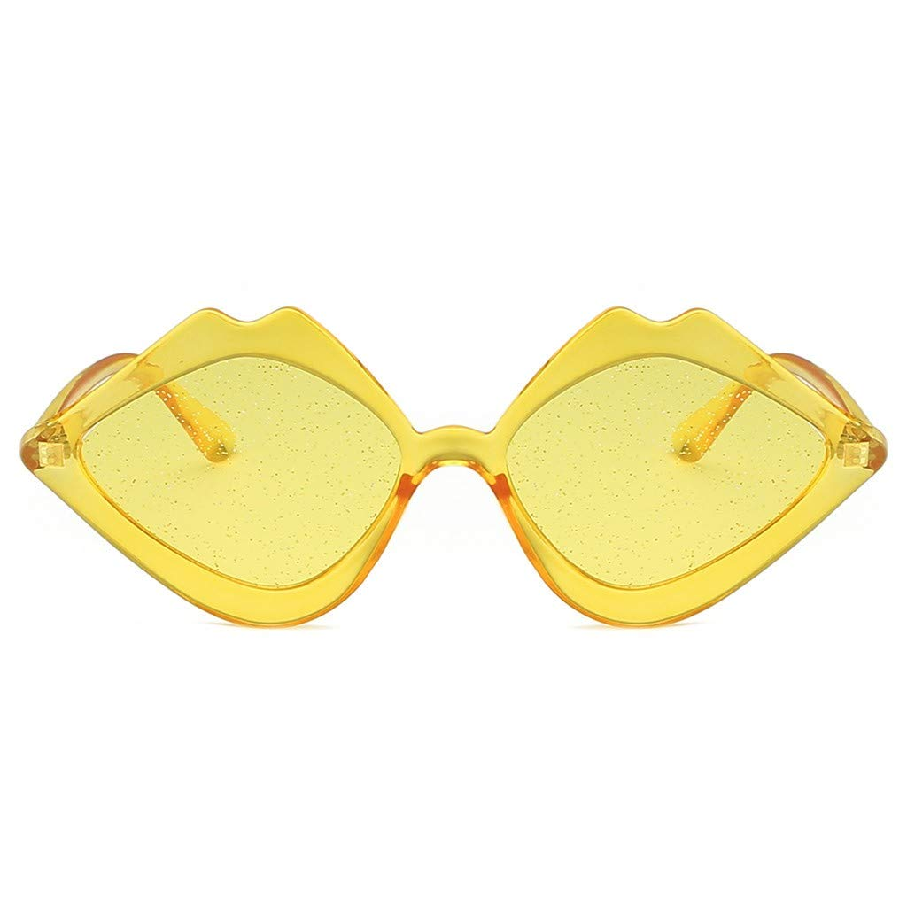WomenS Jelly Lips Sunglasses Box Plastic Sunglasses Birthday Gift Outdoor Cycling Uv Protection Goggles