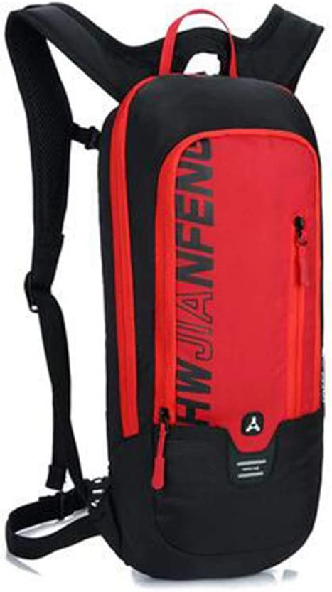 Backpack Outdoor Cycling Backpack Men and Women Breathable Running Bag Color : Red