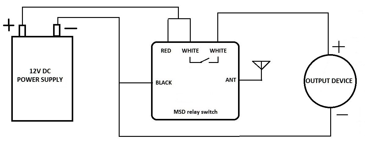 MSD 12V DC dry contact on off relay switch with long range remote