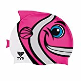 TYR Sport Kid 's charac Happy Fish Swim Cap
