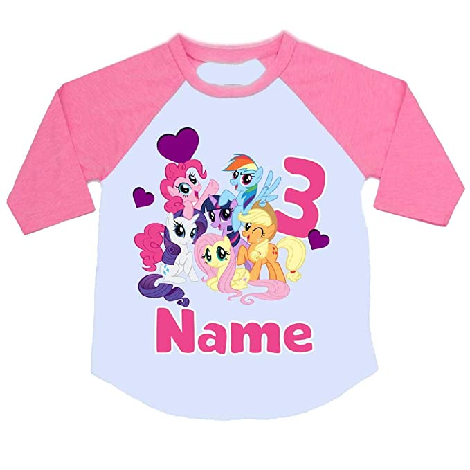 29e579a0 Sprinklecart My Little Pony Third Birthday T Shirt for Your Little Star |  Personalized Name Printed