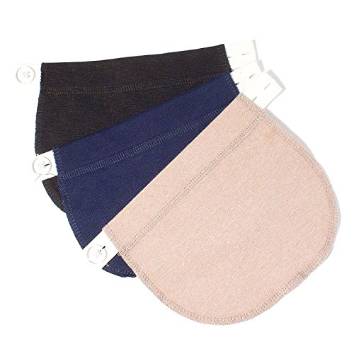 CASHIMRE Maternity Belly Band for Pregnancy-Waistband Extender Pregnant Women Adjustable Elastic Pants (Maternity Clothes Belly Band)