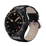 DI05 Smart Watch WIFI GPS MTK6580 Bluetooth 4.0 512MB+8GB Support 3G NANO SIM Card 1.39inch AMOLED Smart Watch PK K88H, Black
