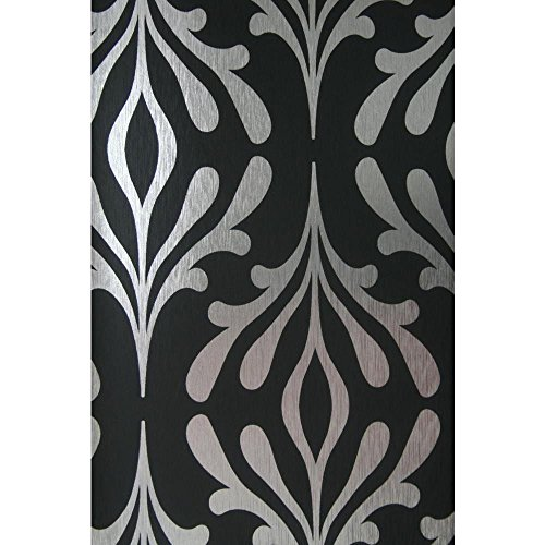 - Candice Olson Inspired Elegance Stardust Wallpaper Color: Onyx Black/Silver Foil