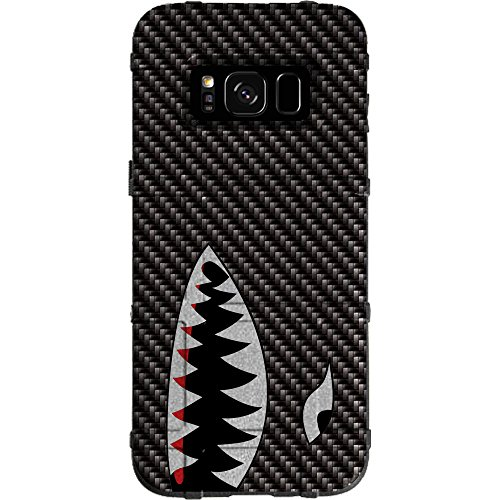 EGO Tactical Limited Edition Design UV-Printed onto a MAG934 Field Case Compatible with Samsung Galaxy S8 (Not for Plus or Active) Black Carbon Fiber, Shark Teeth ()