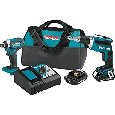 Makita XT262R 18V LXT Lithium-Ion COMPACT Cordless 2-Pc. Combo Kit (2.0Ah)